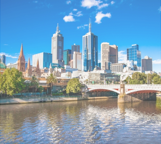 Melbourne River and Skyline